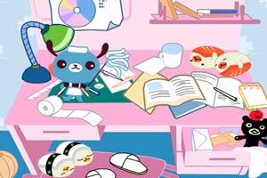 整理书桌和洗刷学生装龙8娱乐国际