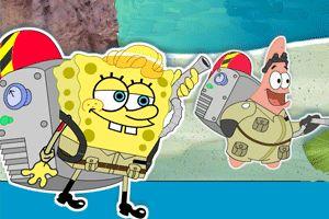 海绵宝宝海底清洁工小游戏