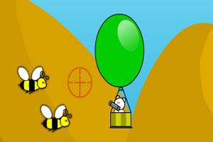 小熊热气球图片