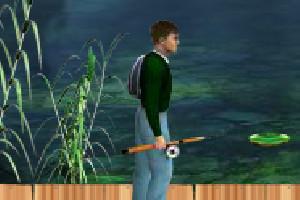 真人池塘钓鱼小游戏