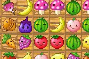 可爱蔬果连连看小游戏