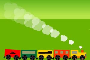 小火车过隧道小游戏