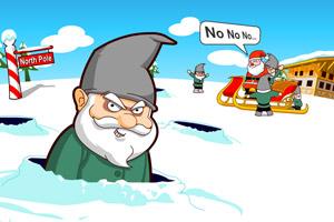 敲打坏圣诞老人