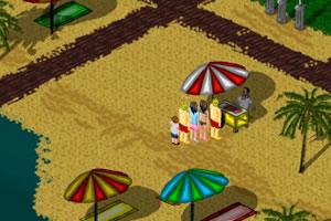 沙滩冰淇林小车