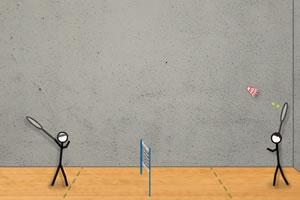 火柴人打羽毛球小游戏