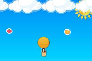 热气球吃水果