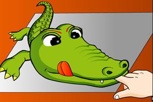 给小鳄鱼拔牙小游戏