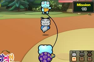 小蜗牛爱跳绳小游戏