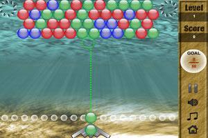 水下泡泡龙小游戏