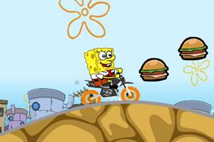 海绵宝宝汉堡摩托车小游戏