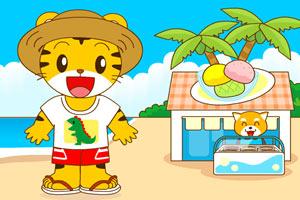 和巧虎一起去海边玩小游戏