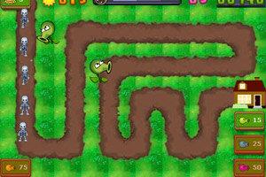植物大战僵尸塔防版小游戏