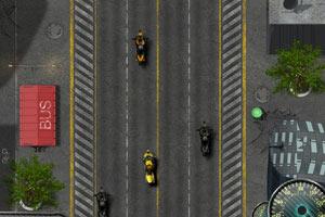 摩托车追捕小游戏