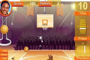 NBA全明星罚球大赛小游戏