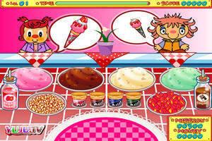 洁西的冰淇淋店小游戏