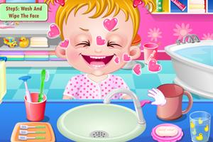 可爱宝贝刷刷牙小游戏