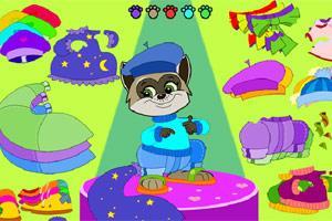 打扮可爱小浣熊小游戏