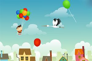 小男孩的气球旅行小游戏