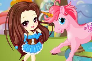 可爱女孩与独角兽