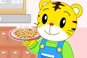巧虎制作披萨