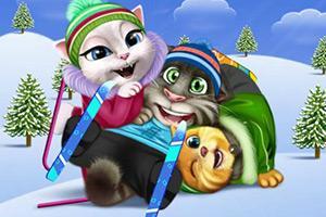 汤姆一家去滑雪