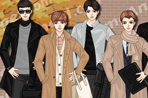 韩国男式时尚风衣