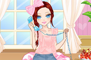 接电话的女孩