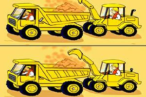 挖掘卡车找不同