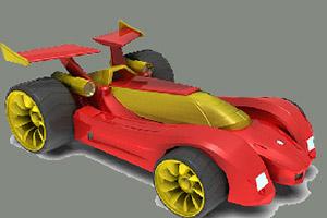 红色极速四驱车拼图