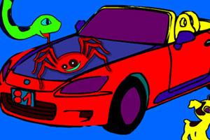 儿童玩具车上色