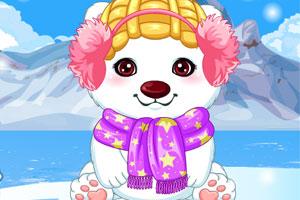 照顾可爱北极熊