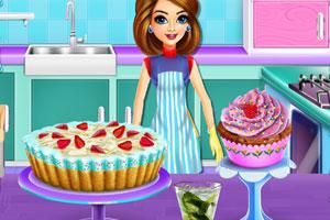 丹妮制作甜点